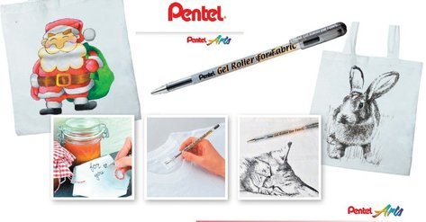 Pentel Gel Roller for Fabric