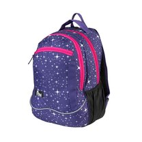 Batoh školní sportovní fialový sparkl
