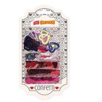 Dekorativní konfety srdíčka mix 5 druhů