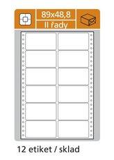 Samolepicí etikety tabelační dvouřadé 89x23,4mm
