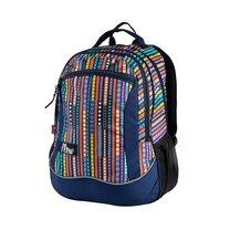 Batoh školní sportovní multicolor proužek