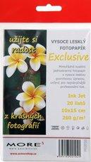Fotopapír pro inkoustové tiskárny - Exclusive 10x15