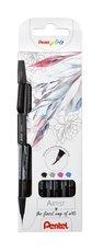 "Štěteček barevný Sign Pen ""Artist"" Pentel SESF30-4ks sada"