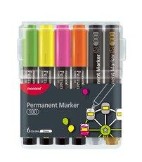 Monami 100 permanentní popisovače sada 6 barev