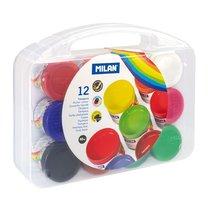 Temperové barvy Milan 03212 12 barev v plastovém kufříku