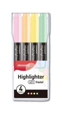 Sada zvýrazňovačů MONAMI 601 pastel mix 4ks
