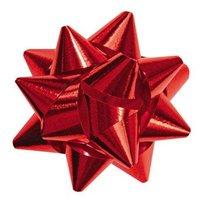 Roseta Lux, 20 mm, metalická červená