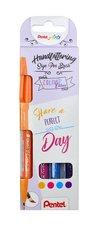 Popisovače štětečkové Pentel touch SES15-4COL Happy sada Brush Sign Pen