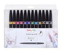 "Štěteček barevný Sign Pen ""Artist"" Pentel SESF30-12 sada"