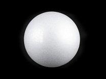 Koule průměr 15 cm polystyren bílá 1 ks
