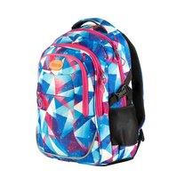Batoh školní sportovní modro-růžový triangl