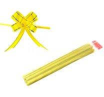 Vázací stuha stahovací 1,8 x 39/10 ks, žlutá