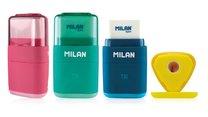 Milan trojhranné ořezávátko s pryží mix barev