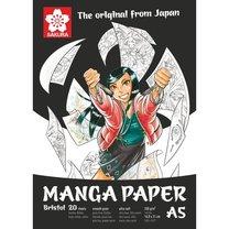 Manga skicák - lepený na krátké straně (250g/m2, 20 listů), A5