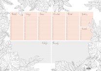 Kalendář stolní plánovací A3 antistresové obrázky