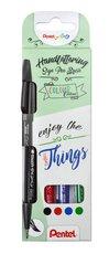 Popisovače štětečkové Pentel touch SES15-4 Basic sada Brush Sign Pen