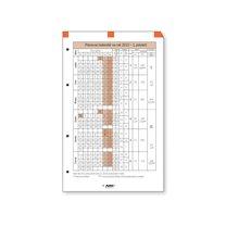 ADK plánovací kalendář A5, 1 list