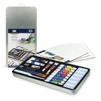 Sada akrylových barev v plechovém boxu