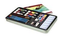 Sada akvarelových barev v plechovém boxu