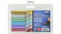 Sada štětečkových popisovačů Marvy Opaque Brush šest metalických odstínů