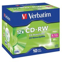 CD-RW Verbatim 700MB jewel box /1 ks