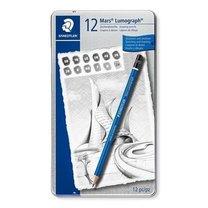 """STAEDTLER grafitové tužky umělecké  """"Mars Lumograph"""", 12 tvrdostí"""