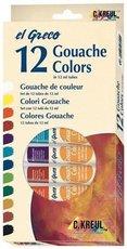 Kvašové barvy KREUL EL GRECO 12 barev v tubách po 12ml