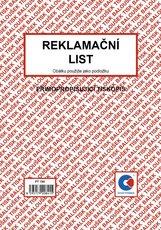 Reklamační list, formát A5, 50 listů, PT190