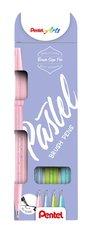 Popisovače štětečkové Pentel touch SES15P-4 Pastel sada Brush Sign Pen