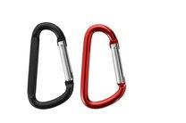 Karabinka hliníková malá, barevný mix: černá, červená, 2ks