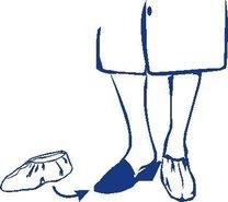 Návleky na boty modré, 100 ks