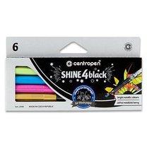 Sada popisovačů na tmavý papír Shine 4 Black - 6 metalických barev