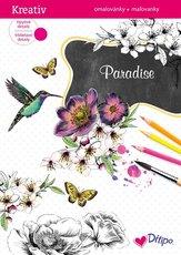 Třpytivé omalovánky Paradise