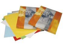 Etikety samolepicí barevné Print