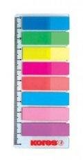 Kores záložky indexové na pravítku 42x12 - 8 barev