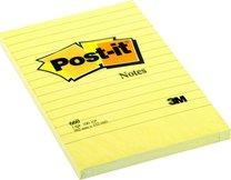 3M Post-it samolepicí žlutý linkovaný bloček 660, 100 lístků v bločku