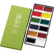 Akvarelové barvy Kuratake Gansai Tambi 12 základních odstínů