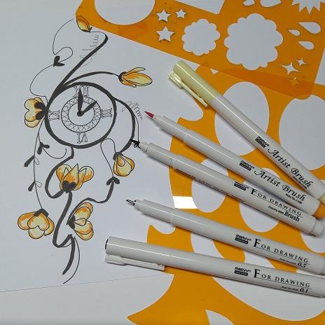 papírnitví, Farského, Plzeň, Marvy, Marvy Uchida, For Drawing, rýsovací, rýsovací pera, fix, fixy, popisovače, rýsovat, kreslit, psát