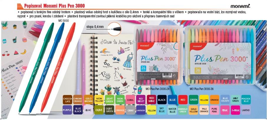 papírnictví, Plzeň, techdraw, Monami, Plus Pen, 3000, popisovače, kaligrafie, malování, psaní, děti, akce, zábava