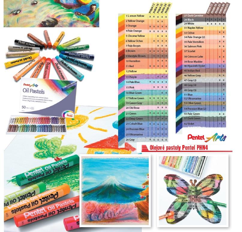 papírnictví, techdraw, Farského, olejové, olejové pastely, pastely, výtvarné, výtvarné potřeby, školní, školní potřeby, kreativní, kreativní potřeby, malování, výtvarky, tvoření, olej, Pentel, oilpastel, PHN